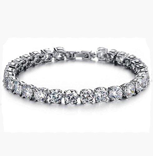 Ming Yu Jewelry Platinum Plated Round Cut 6mm 0.23