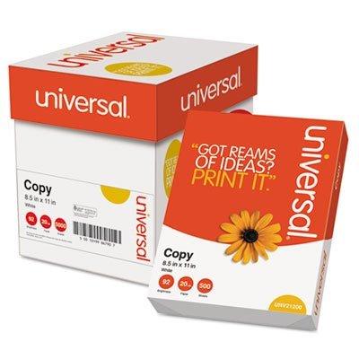 UNV11289 Copy Paper Convenience Carton, 92 Brightness, 20lb, 8-1/2 x 11, White, 2500/Ctn by Universal