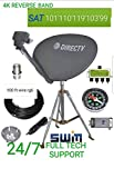 Directv Kaku Slimline SWM Dish 5 Tripod Camping Tailgate RV 100 feet rg 6 Wire Power 21 v 4 Way Splitter lnb SWM 5