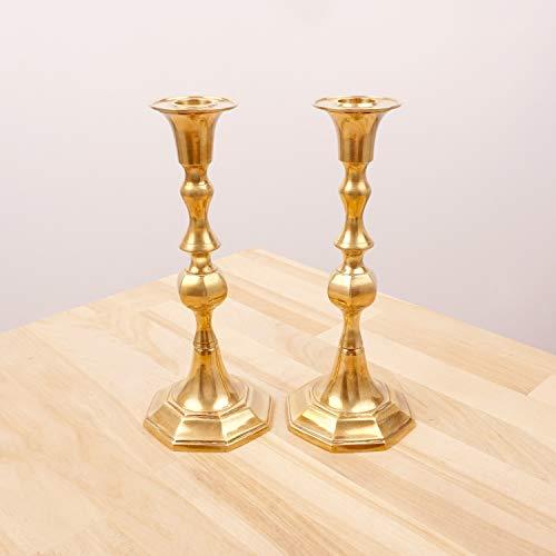 Restored by UKARETRO 2 Vintage Candle Stick Holders/Candle Holders || Solid Brass || Vintage Solid Brass Candle Holder || Pair of Candle ()