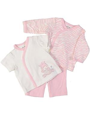 Unisex Baby Zebra 3 Piece Set