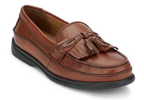 ir Leather Casual Kiltie Loafer Shoe, Antique Brown, 11 W US ()