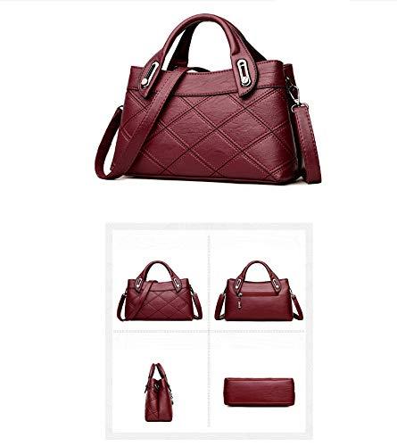 bag handbag bag Purple leather XNQXW bandolera Messenger Women's capacity large soft hand bag Bolsos shoulder bag ZBnYB6g
