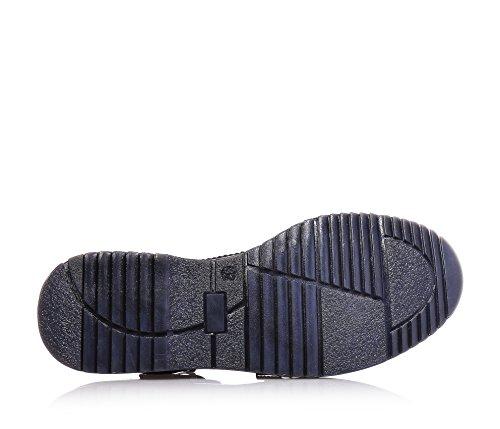 JARRETT - Blauer Halbschuh aus Leder, durch die Benutzung hochwertiger Materialien und recherchiertes Leders gekennzeichnet, Jungen