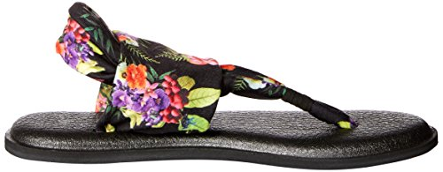 Sanuk Yoga Sling Ladies Black Sandals