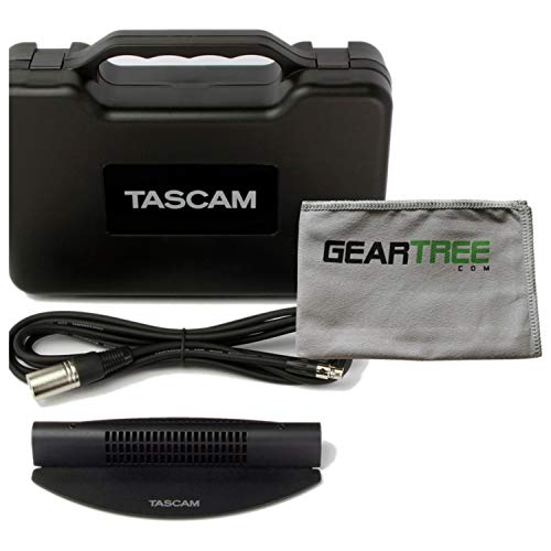 Electret Condenser Boundary Microphone - Tascam TM-90BM Boundary Condenser Microphone w/Cleaning Cloth