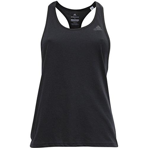 adidas Womens Training Ultimate Tank Top, Black/Black, Medium