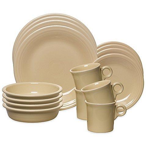 Fiesta 16-Piece, Service for 4 Dinnerware Set, Ivory