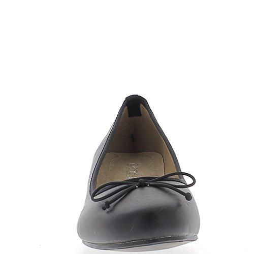 Talón negro 5.5cm retro de gran tamaño los zapatos