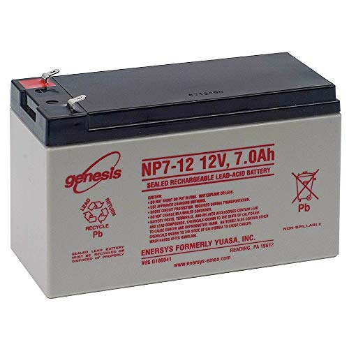 (AJC Enersys NP7-12A 12V 7Ah Sealed Lead Acid Battery - This is an Brand Replacement)