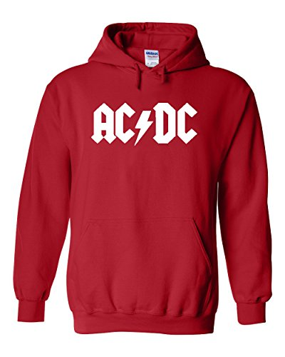 AC/DC Hoodie   Hard Rock Design   Mens Red Large