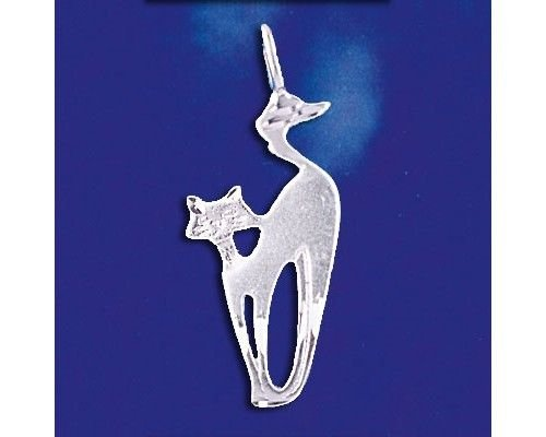 (Sterling Silver Siamese Cat Pendant Kitty Oriental Pussycat Charm Solid 925 New Jewelry Making Supply Pendant Bracelet DIY Crafting by Wholesale Charms)