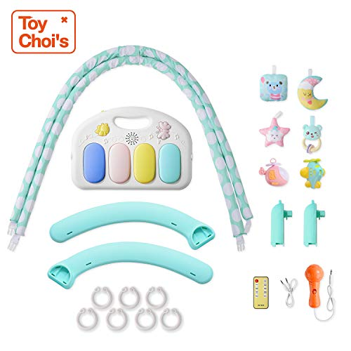 Toy Choi's Pretend Play Series Baby Gym Play Mat with Activity Center, Piano Music and Light for Infants, Babies, Toddlers and Kids