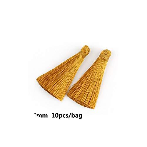 (Small Mini Tassels 10 20Pcs/Lot for Garments 12 Colors 35Mm Artificial Tassel DIY Home Decoration,Light Brown)