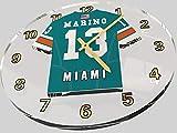 FanPlastic DAN Marino 13 Miami Dolphins Wall Clock - National Football League Legends Edition !!