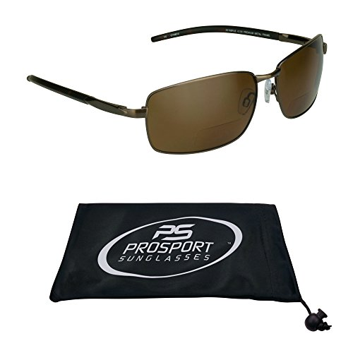 Polarized Bifocal Sunglasses with Premium TAC Polarized Lenses and Durable High Nickel Metal Frames. (Brown, ()