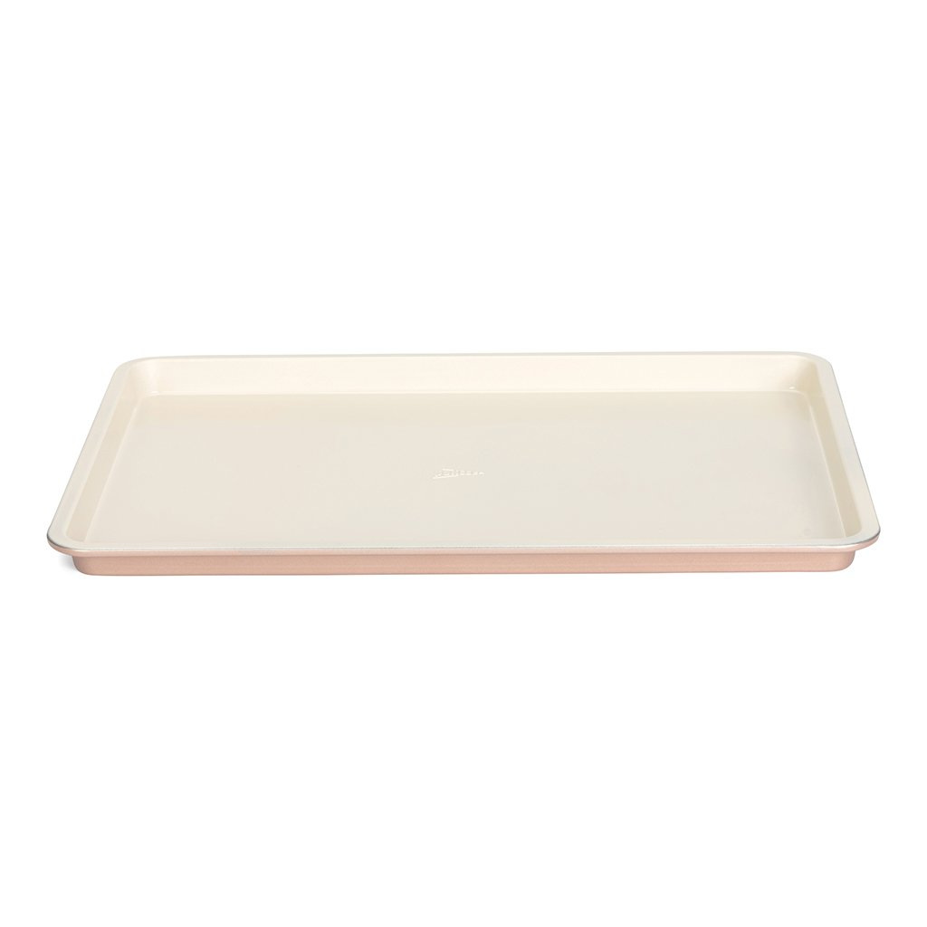 Patisse 03339 Ceramic Jelly Roll Pan with Non-Stick Surface, Cream/Copper