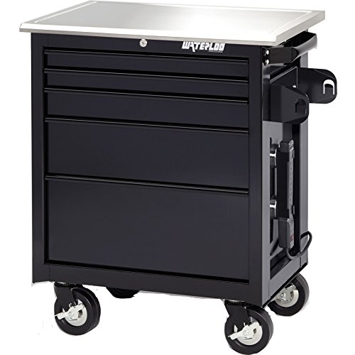 Waterloo 26'' Wide Professional Artist Series Workstation with Stainless Steel Work Surface, Black Finish by Waterloo