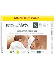 Eco by Naty Premium Disposable Baby Diapers for Sensitive Skin, Size Newborn