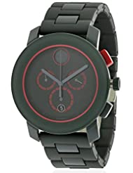 Movado Bold Chronograph Black Dial Dark Grey Stainless Steel Mens Watch 3600272
