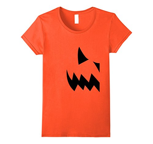 Duo Halloween Costumes Females (Womens Pumpkin Couples Costume Halloween T-shirt Medium Orange)