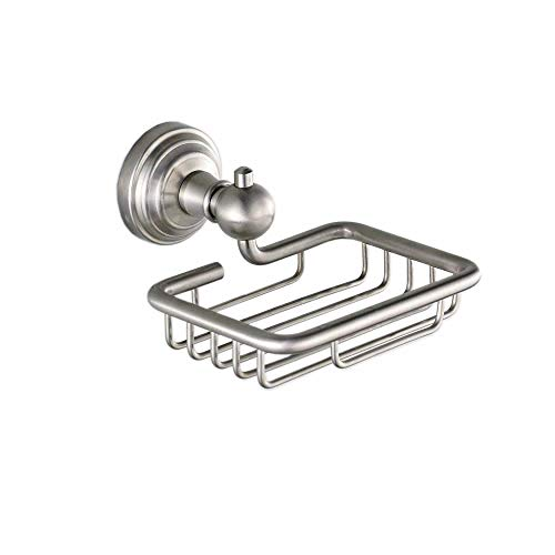 Hiendure Soap Holder, Stainless Steel Soap Dish for Bathroom Kitchen Shower Wall Mounted