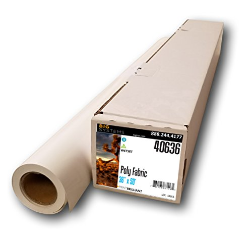 WetJet Aqueous Woven Poly Fabric Banner Roll (36