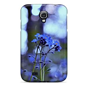 New Style Mialisabblake Hard Case Cover For Galaxy S4- Mother S Day Beautiful Flower Forget Me Not Flowers