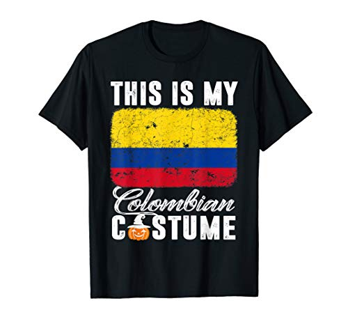 Colombia Flag Tshirt This Is My Colombian Costume Funny]()
