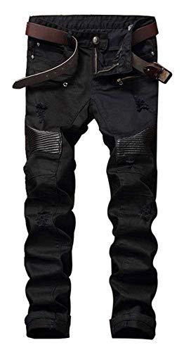 Size Elásticos Delgados Hombres Black2 Vaqueros Color Skinny Delgados Pantalones Ajustados Hombres Vaqueros De Pantalones Destruidos De Ajustados Vaqueros Los 31 Pantalones Los Pantalones CqX1vtw