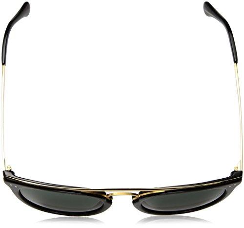 Polo Ralph Lauren trou de serrure métallique pont lunettes de soleil en or noir brillant PH4121 500171 51 Shiny Black Green