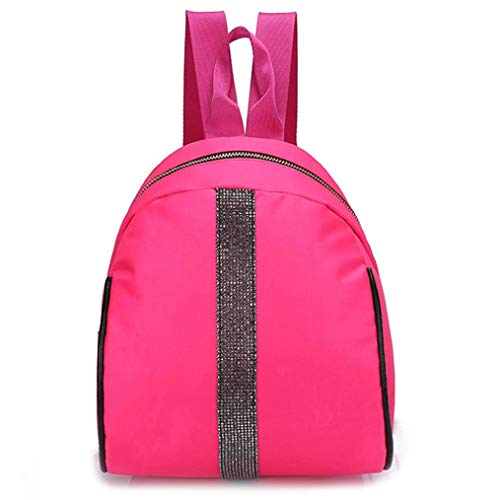 school bag for students,iOPQO nylon hit color shoulder bag Tote backpack