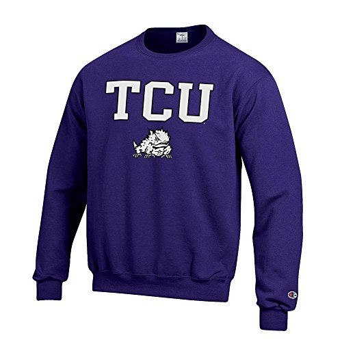 - Elite Fan Shop TCU Horned Frogs Crewneck Sweatshirt Varsity Purple - M