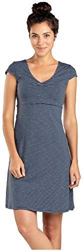 - Toad&Co Rosemarie Dress - Women's Deep Navy Mini Stripe Small