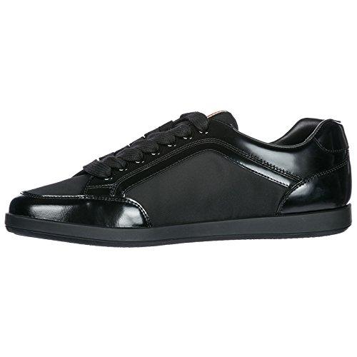 Negro Prada Deporte En Piel Hombres De Zapatos Zapatillas rwqpc0wBC
