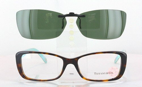 TIFFANY 2090-H-54X16 POLARIZED CLIP-ON SUNGLASSES (Frame NOT - Company Glasses Tiffany And Frames