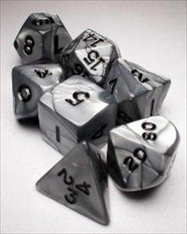 Koplow RPG Dice Sets: Silver/Black Olympic Polyhedral 7-Die Set