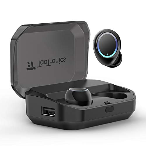 Wireless Earbuds, TaoTronics Bluetooth 5.0 Headphones True Wireless Ear Buds IPX7 Waterproof Dual Built-in Mic Earphones with 3350mAh Charging Case for 120H Extended Playtime