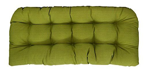 RSH Décor Indoor/Outdoor Wicker Chair Cushion Loveseat Palm Green Mini - Wicker Palm Springs