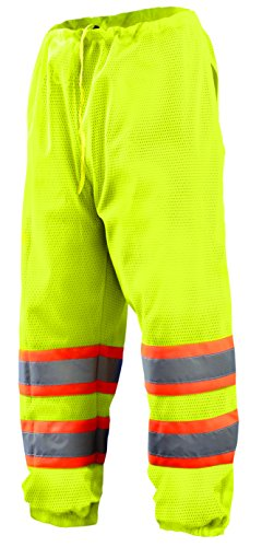 OccuNomix ECO-TEM2T-Y2X/4X Two Tone Class E Mesh Pants, 2X/4X-Large, Yellow