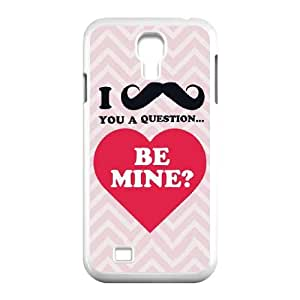 Samsung Galaxy S4 9500 Cell Phone Case White Mustache Be Mine LV7897829
