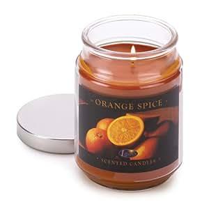 Orange Spice Cinnamon Clove Scented Glass Jar Candle