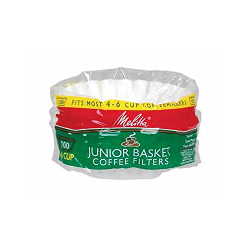 - Melitta Junior Basket Coffee Filters White 100 Count