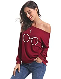 Women's Off Shoulder Sweater Loose Top Knit Pullover Sweater