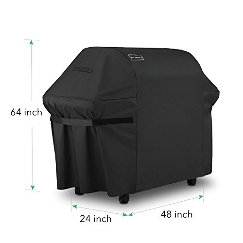 Homitt Waterproof Grill Cover, 64 Inch 600D Heavy Duty BBQ Grill Cover with UV Coating for Most Brands of Grill.