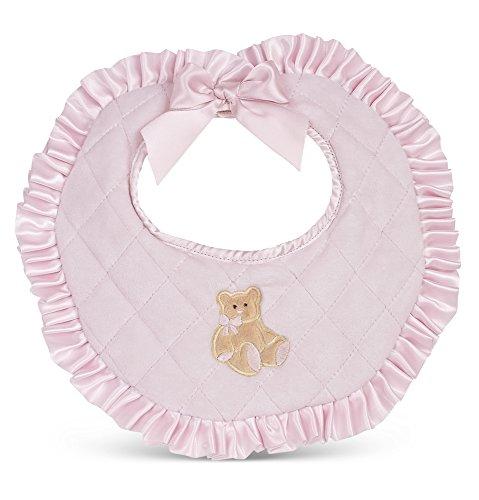 Price comparison product image Bearington Baby Huggie Bear Pink Girl's Bib