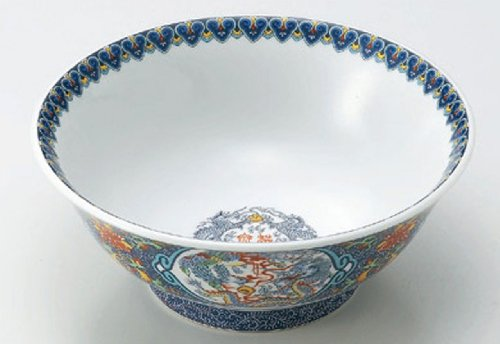 BLUE-KARAKUSA 8inches Set of 5 Noodle bowls Jiki Japanese Original Porcelain by Watou.asia