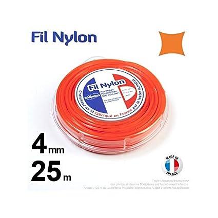 Hilo Desbrozadora Nylon Cuadrado 4 mm par 25 M en carcasa ...