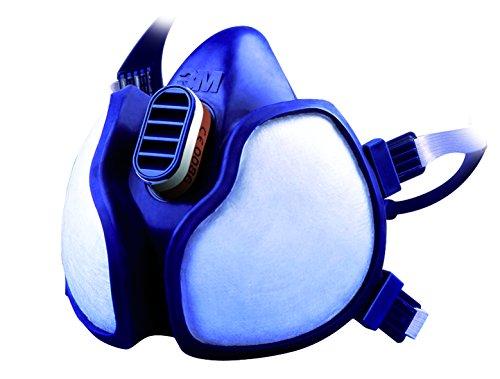 3M 4251C Halbmaske für Farbspritz- und Maschinenschleifarbeiten, Schutzstufe A1P2, gebrauchsfertig, geringer Atemwiderstand, besonders leicht