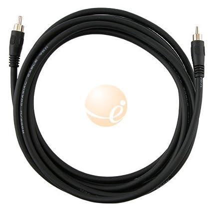 12 ft SPDIF Digital Coaxial / Subwoofer Audio RCA Cable